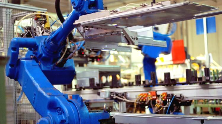 (ANSA) - ANCONA, 9 APR - Industria: Ariston Thermo, stabilimento di Osimo.  +++ NO SALES, EDITORIAL USE ONLY +++